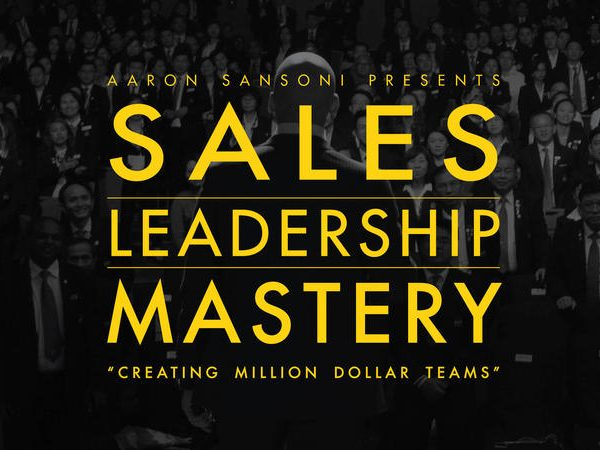 Sales Leadership Mastery Aaron Sansoni training.
