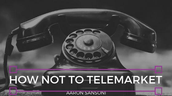 Aaron Sansoni - Telemarketing Header