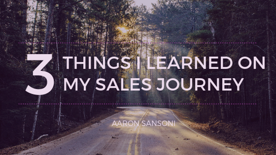 Aaron Sansoni - Sales Journey Header